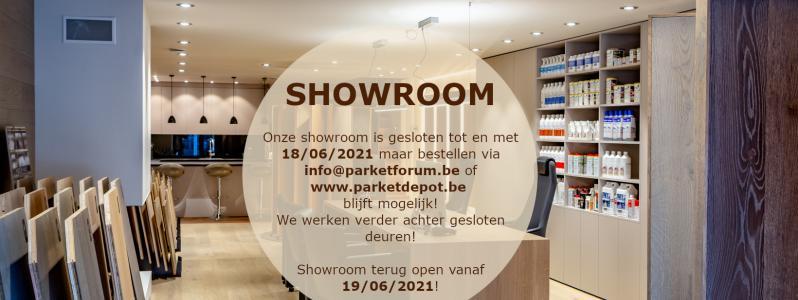 Showroom gesloten tot en met 18/06/2021